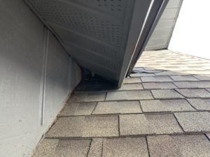 Rats commonly enter through the soffit.